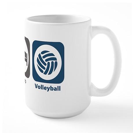 Eat Sleep Volleyball Large Mug