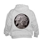 Silver Indian Head Kids Hoodie