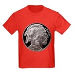 Silver Indian Head Kids Dark T-Shirt