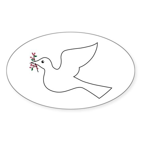 Peace Coffee Oval Sticker