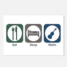 Eat Sleep Violin Postcards (Package of 8)