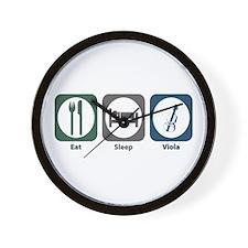 Eat Sleep Viola Wall Clock