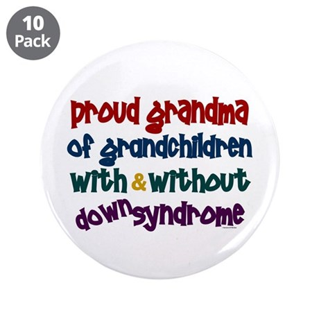 """Proud Grandma....2 (With & Without DS) 3.5"""" Button"""