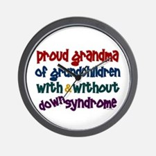 Proud Grandma....2 (With & Without DS) Wall Clock