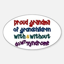 Proud Grandma....2 (With & Without DS) Bumper Stickers