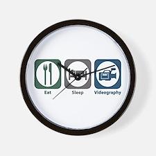 Eat Sleep Videography Wall Clock