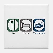 Eat Sleep Videography Tile Coaster