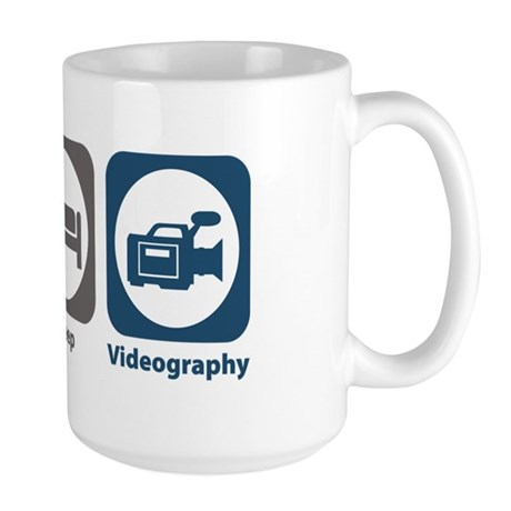 Eat Sleep Videography Large Mug