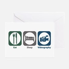 Eat Sleep Videography Greeting Cards (Pk of 20)