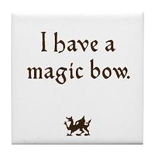 magic bow Tile Coaster