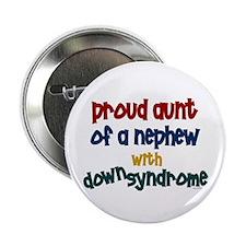 """Proud Aunt....2 (Nephew DS) 2.25"""" Button (100 pack"""