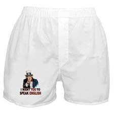 English: SPEAK ENGLISH Boxer Shorts