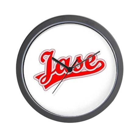 Retro Jase (Red) Wall Clock