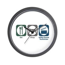 Eat Sleep Utility Sound Technician Wall Clock