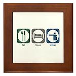 Eat Sleep Usher Framed Tile