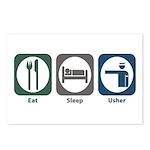 Eat Sleep Usher Postcards (Package of 8)
