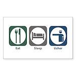 Eat Sleep Usher Rectangle Sticker 10 pk)