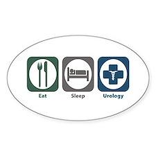 Eat Sleep Urology Oval Decal