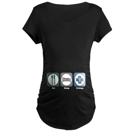 Eat Sleep Urology Maternity Dark T-Shirt