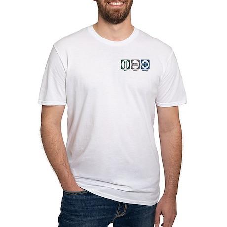 Eat Sleep Urology Fitted T-Shirt