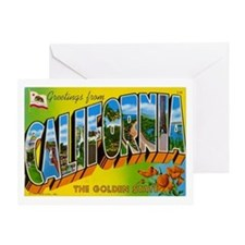 California Postcard Greeting Card
