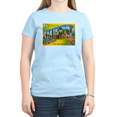 California Postcard Women's Light T-Shirt