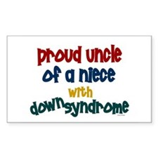 Proud Uncle....2 (Niece DS) Rectangle Decal