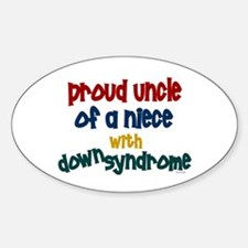 Proud Uncle....2 (Niece DS) Oval Decal
