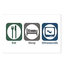 Eat Sleep Ultrasounds Postcards (Package of 8)