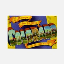 Colorado Postcard Rectangle Magnet