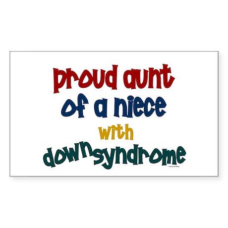 Proud Aunt....2 (Niece DS) Rectangle Sticker