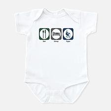 Eat Sleep Type Infant Bodysuit