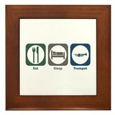 Eat Sleep Trumpet Framed Tile