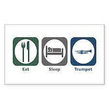 Eat Sleep Trumpet Rectangle Decal