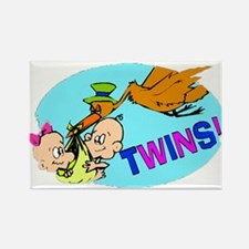 Twins Rectangle Magnet (10 pack)