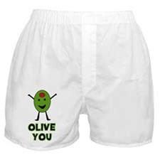Olive You - I Love You Boxer Shorts