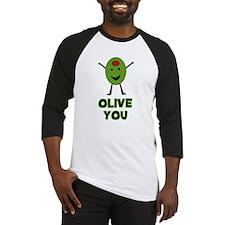 Olive You - I Love You Baseball Jersey