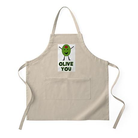 Olive You - I Love You BBQ Apron
