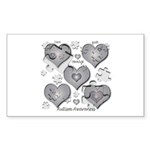 The Missing Piece Is Love Rectangle Sticker 10 pk