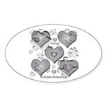 The Missing Piece Is Love Oval Sticker (10 pk)