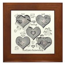 The Missing Piece Is Love Framed Tile