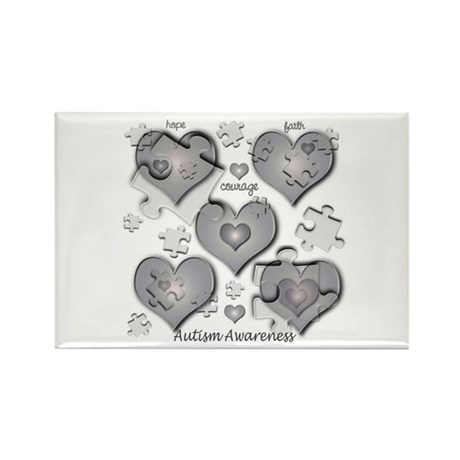 The Missing Piece Is Love Rectangle Magnet (10 pac