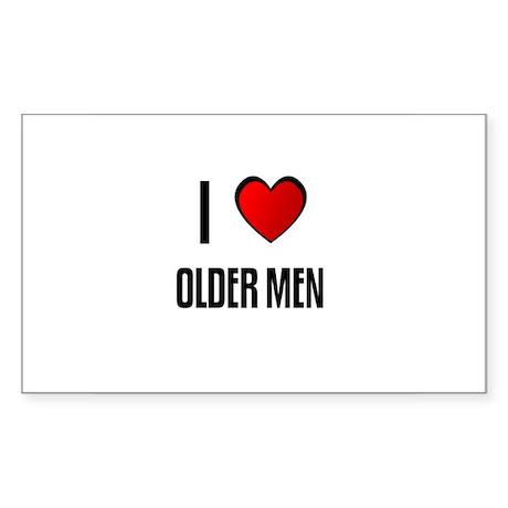 I LOVE OLDER MEN Rectangle Sticker