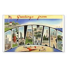 Delaware DE Postcard Rectangle Decal