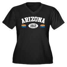 Arizona 1912 Women's Plus Size V-Neck Dark T-Shirt