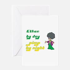 Ethan - Pimp By Night Greeting Card