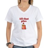 Pig lovers women\'s tee shirts Womens V-Neck T-shirts