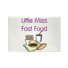 Little Miss Fast Food Rectangle Magnet (10 pack)