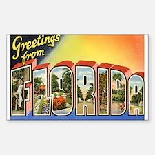 Florida Postcard Rectangle Decal