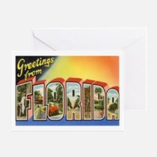 Florida Postcard Greeting Card